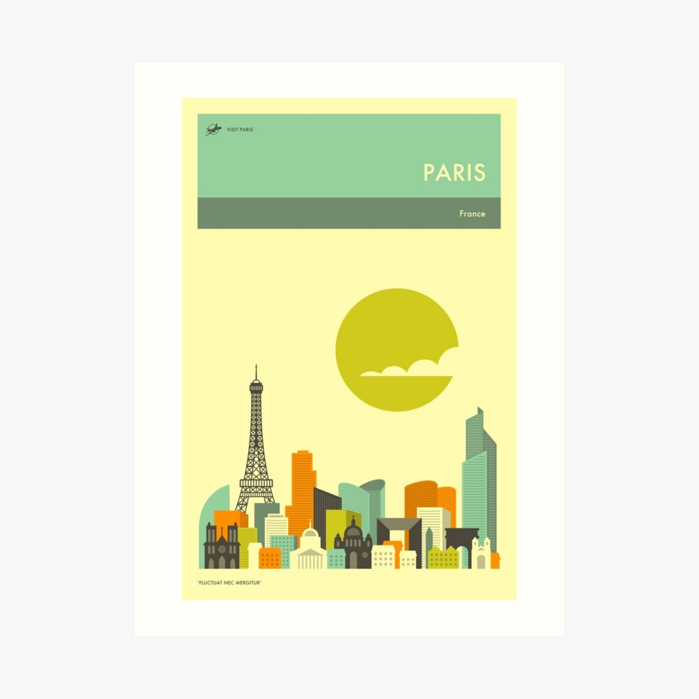 PARIS TRAVEL POSTER Art Print