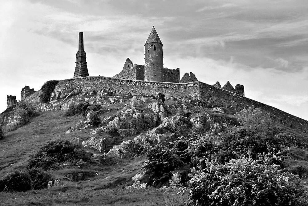 Rock of Cashel, Cashel, Ireland (b/w) by ThomasMaher
