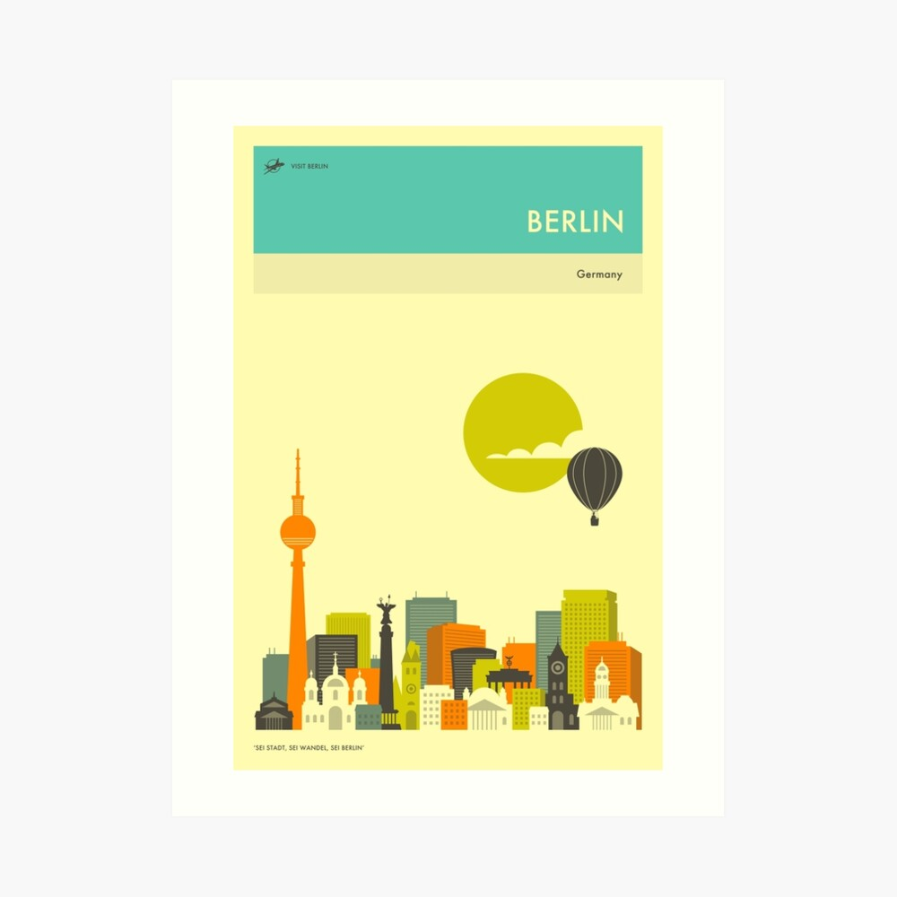 BERLIN TRAVEL POSTER Art Print