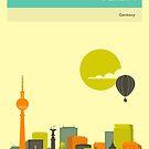 BERLIN SKYLINE by JazzberryBlue