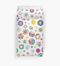 Floral Geometric Colorful Patterns Design Duvet Cover