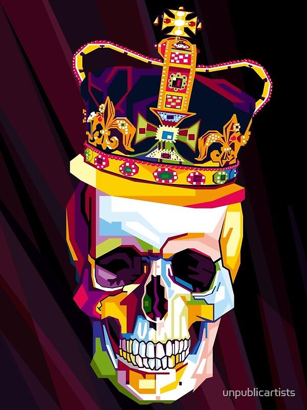 skull pop art contemporary artist conqr bright 3d digital. Black Bedroom Furniture Sets. Home Design Ideas