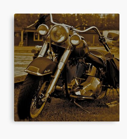 My Harley - Davidson   -  Road to Hell . Brown Sugar Story.  Views 3167 .thank you ! Hold Your Memories. Buy what you like! Canvas Print