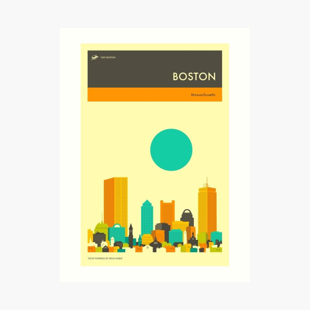 BOSTON TRAVEL POSTER Art Print