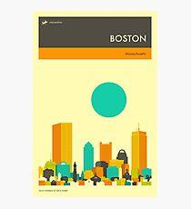 BOSTON TRAVEL POSTER Photographic Print