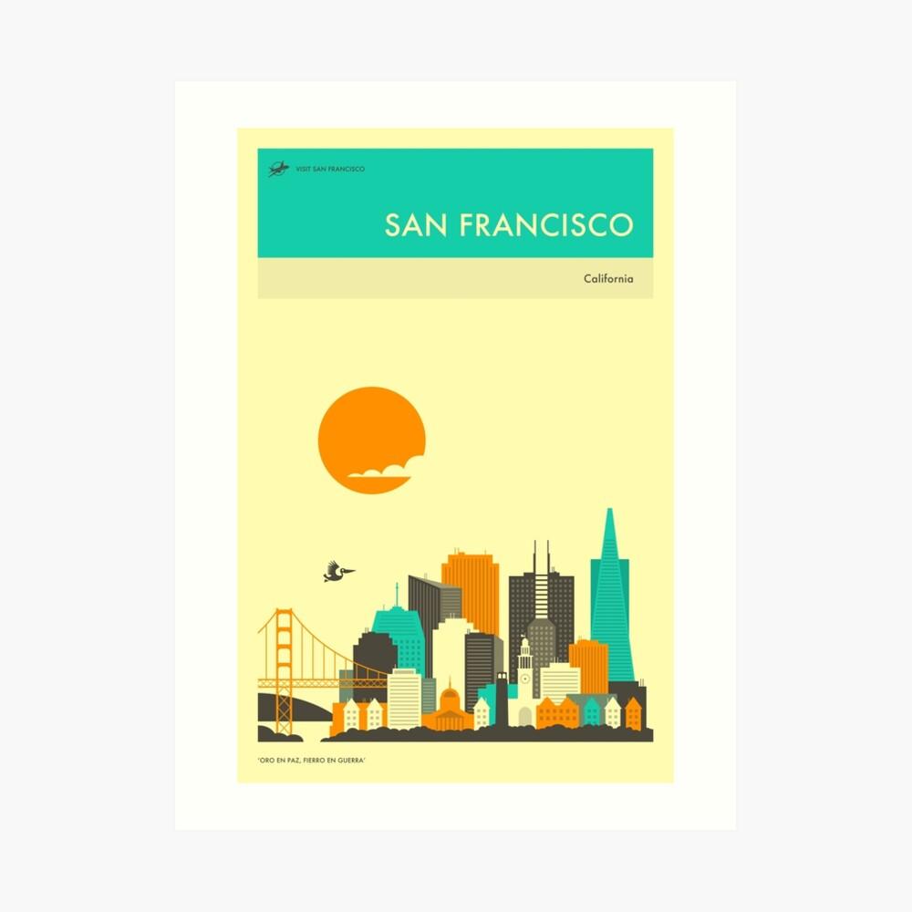 SAN FRANCISCO TRAVEL POSTER Art Print