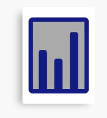 Chart statistics icon Canvas Print