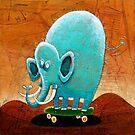 Skateboarding Elephant by Neil Elliott