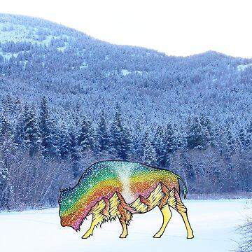 Winter Buffalo by AuroraAngove