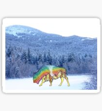 Winter Buffalo Sticker