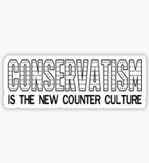 Conservatism is the New Counter Culture Sticker