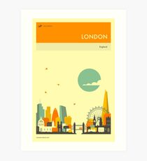 LONDON TRAVEL POSTER Art Print