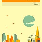 LONDON SKYLINE by JazzberryBlue