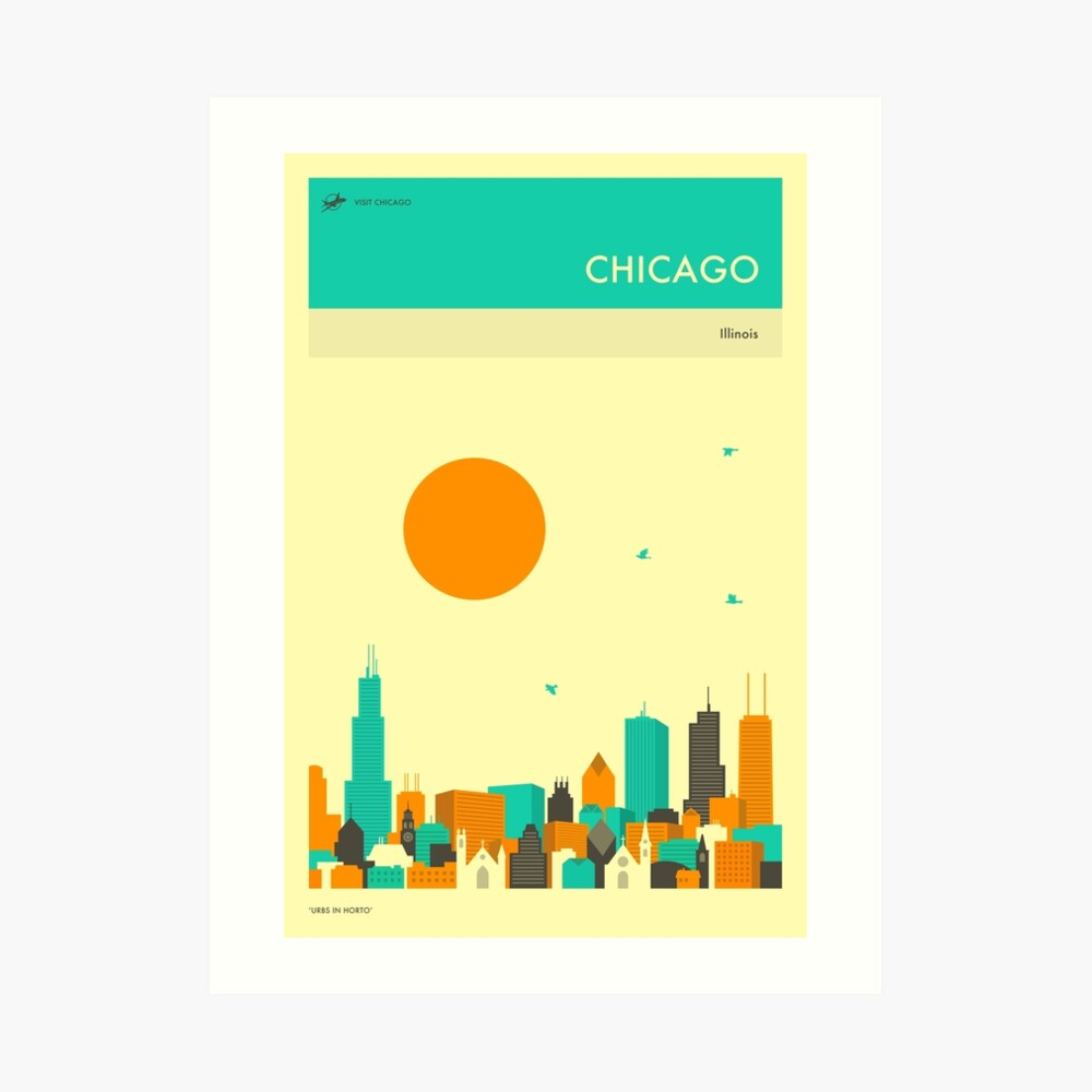 CHICAGO TRAVEL POSTER Art Print