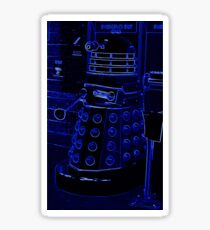 Neon Blue Dalek Sticker