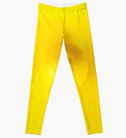 Gelbe Zitrone Leggings