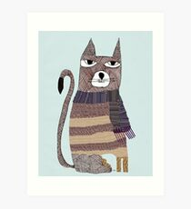Thomson the cat Art Print