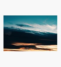 Beautiful Orange And Blue Summer Sunset Sky Photographic Print
