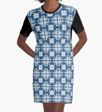 Retro Floral Geometric Pattern Abstract  Graphic T-Shirt Dress
