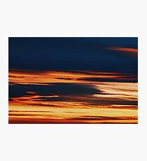 Beautiful Red And Orange Summer Sunset Sky Photographic Print