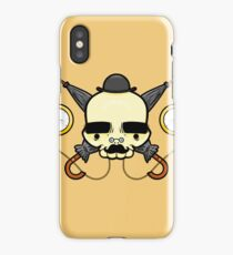Gentleman Skull (with clocks) iPhone Case/Skin