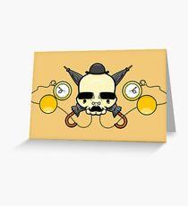Gentleman Skull (with clocks) Greeting Card