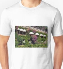 Vegetation on a facade with sun round canopies  Unisex T-Shirt