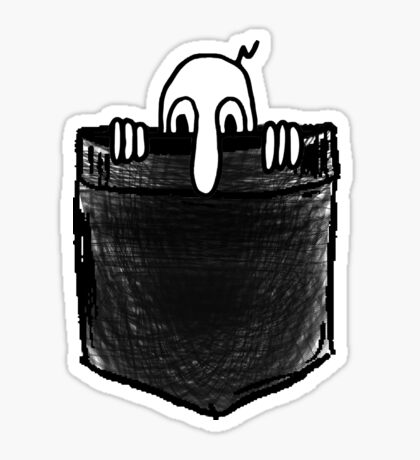 Kilroy Was Here | Pocket Full of Kilroy Sticker