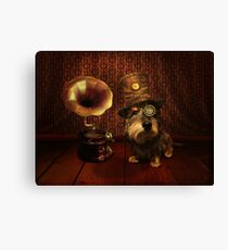 Steampunk Dashound Canvas Print