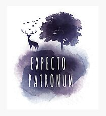 Expecto patromun watercolor stag Photographic Print