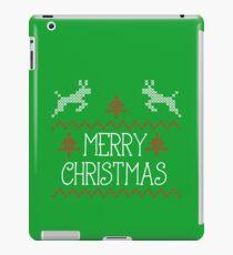 Merry Christmas knit design iPad Case/Skin