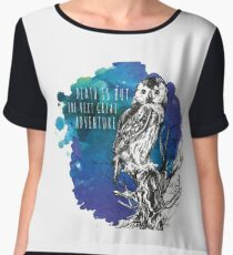 Death is but the next great adventure Women's Chiffon Top