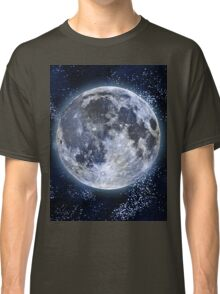 Aurora Beautiful Star Sky with Moon Classic T-Shirt