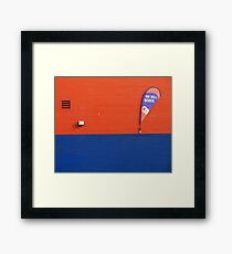 we sell boxes Framed Print