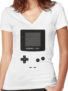 Game Boy Colour Tee Women's Fitted V-Neck T-Shirt