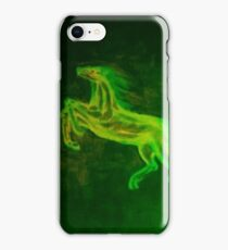 Green horses on the walls iPhone Case/Skin