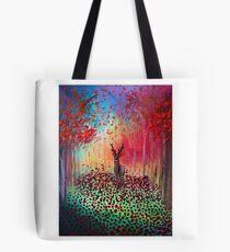 Deer in a poppy field  Tote Bag