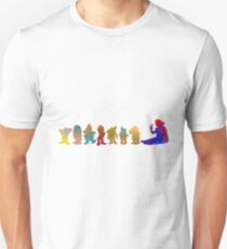 Princess and Dwarf Inspired Silhouette Unisex T-Shirt