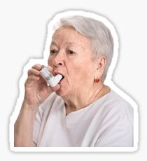 inhaler lady Sticker