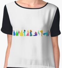 14 Princesses Inspired Silhouette Chiffon Top