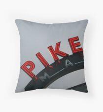 Pike Place Market - Seattle, Washington, USA Travel Fog Throw Pillow
