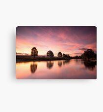 River Eden Sunrise Lazonby Canvas Print