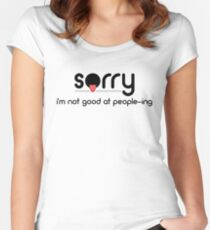 Anti-Social Funny Typography Women's Fitted Scoop T-Shirt
