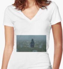 There comes a time Women's Fitted V-Neck T-Shirt