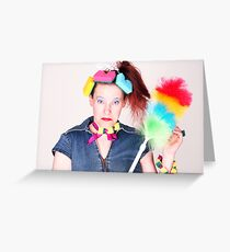 cleaning woman Greeting Card