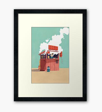Foodstand Framed Print