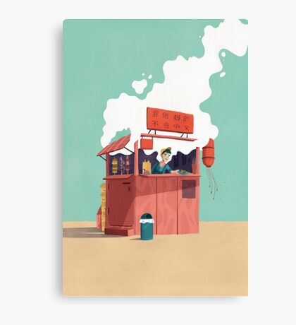 Foodstand Canvas Print