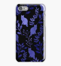 Watercolor Floral and Cat iPhone Case/Skin