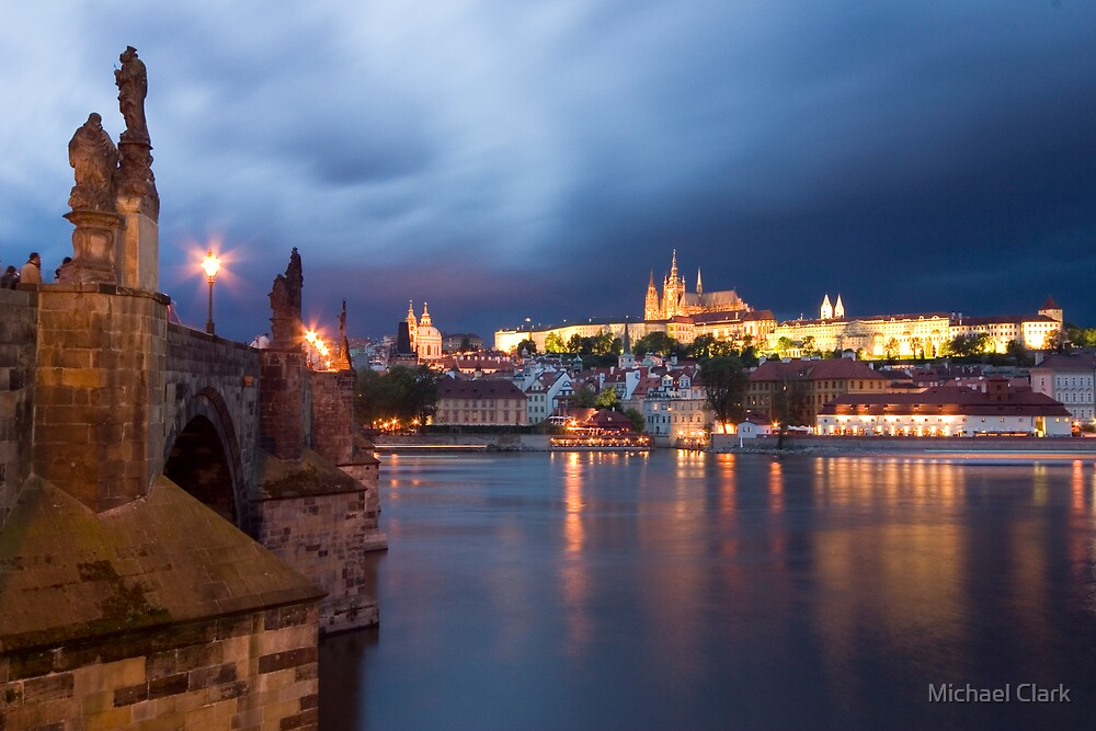 Prague at Night by Michael Clark