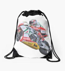 Bike race heroes in action - 'Max Biaggi' Drawstring Bag